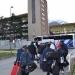 L'arrivo al Villaggio Olimpico